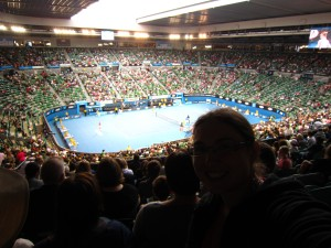 At the tennis