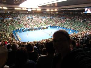 At the tennis