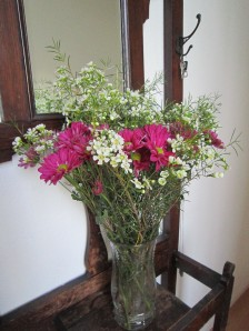 Flowers in the entry