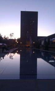 Dusk on campus