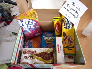 Contents of care package