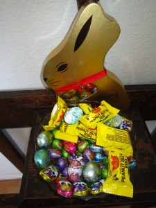 Easter egg stash