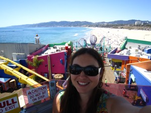 Colourful Santa Monica pier