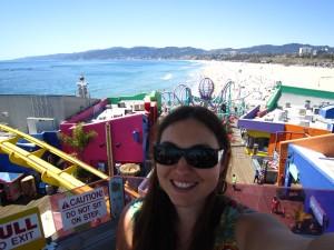 Colourful Santa Monica pier