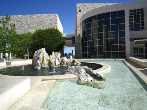 Getty water feature