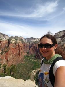 View into Zion Canyon