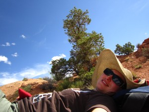 Resting at Canyonlands NP