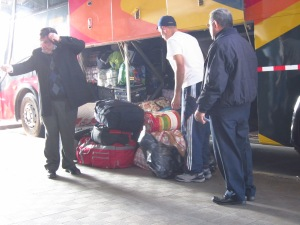Loading bags in Chile