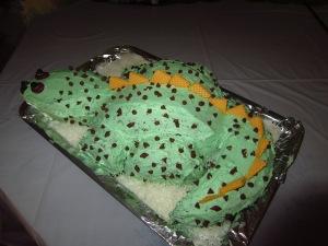 The dinosaur cake
