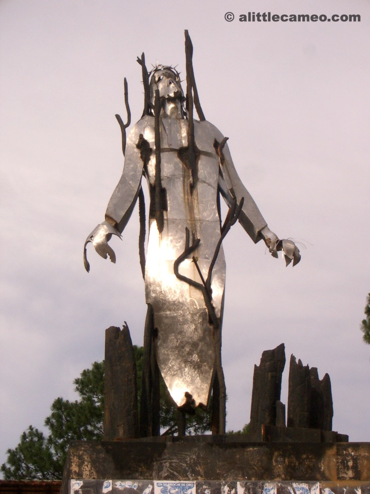 A striking crucifixion of Jesus statue in Encarnacion, Paraguay