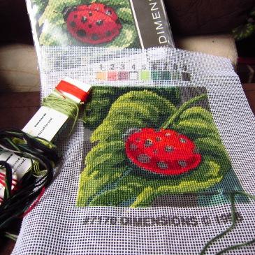 Ladybird cross-stitch
