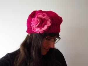 Pink crochet hat
