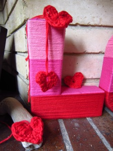 Crochet love hearts